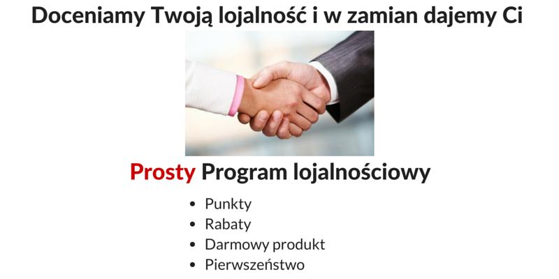 Prosty program lojalnościowy